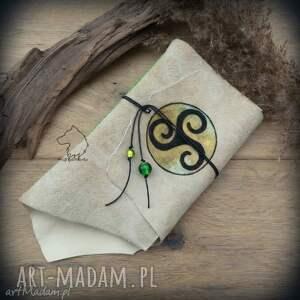 notes a6 ze skórzaną miękką okładką triskelion - ręcznie