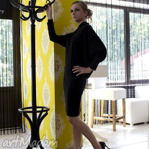 asymetria czarny, rozm 34, sukienka, asymetryczna