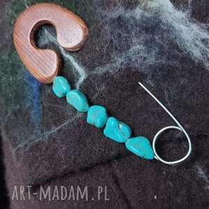 ręcznie wykonane broszki agrafka broszka zapinaka szalik ponczo