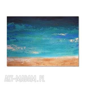 głębia 17, abstrakcja, nowoczesny obraz ręcznie malowany - obraz, ręcznie