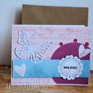 ręczne wykonanie kartki kartka - miłość