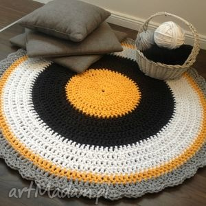 dywan bee , crochet, handmade, sznurek, dywan, szydełko, rękodzieło dom, świąteczny
