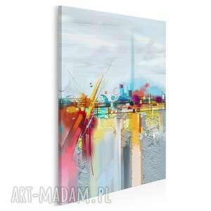 obraz na płótnie - abstrakcyjny kolorowy barwny w pionie 50x70 cm 88903