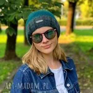 czapka z merynosa, na drutach, wełniana czapka, jesienna dodatki, na prezent