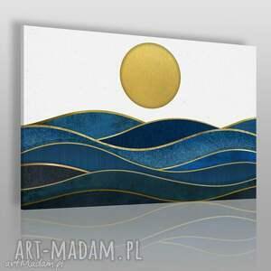 obrazy obraz na płótnie - morze słońce 120x80 cm 42501, słońce, fale