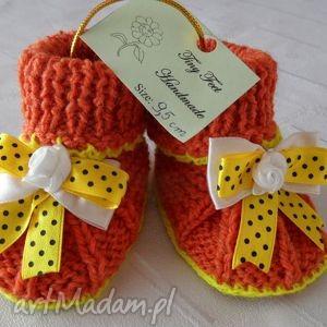 buciki niemowlęce z kokardą, buciki, kapciuszki, dziecięce