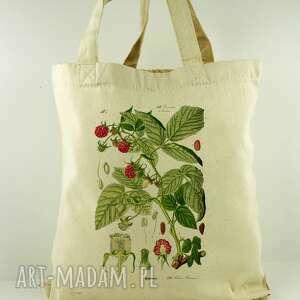 torba malina - płócienna, prezent, dzień, matki, ekologiczna, oryginalna