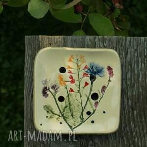handmade ceramika mydelniczka łąka