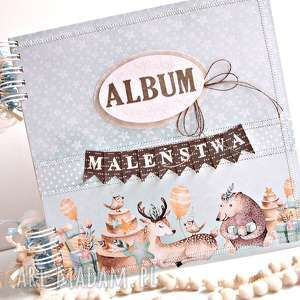 album maleństwa-niebieski 25x25cm - album, chłopca, chrzest, chrzciny, narodziny