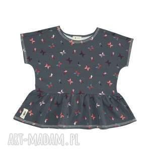 bluzeczka butterfly, moltylki, falbanka, lato, wakacje, bluzka, dziewczynka