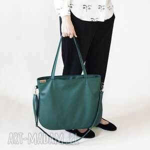 pacco bag - torba na ramię z długim regulowanym, odpinanym paskiem, przez
