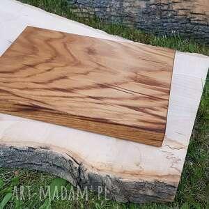 deska dębowa do krojenia, serwowania, drewniana, deska, kuchnia, dąb