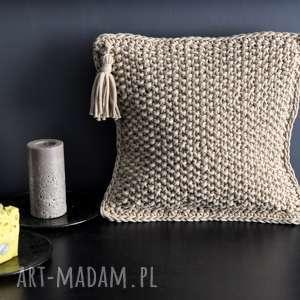 hand-made poduszki poszewka na poduszkę z bawełnianego sznurka