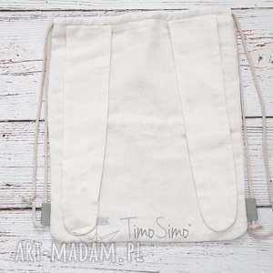 Plecak worek dla dziecka Królik (Białe uszy), len