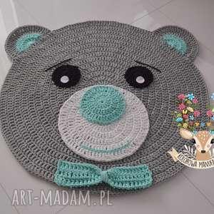 dywan miś z muszką 100cm - dywan, miś, dywanik, chodnik, mata