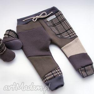 Prezenty pod choinkę? Komplet pants & bambosze eco kratka mimi
