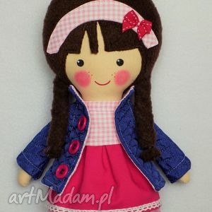 malowana lala rebeka - lalka, zabawka, przytulanka, prezent, niespodzianka, dziecko