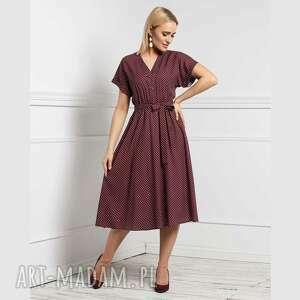 Sukienka saly total midi federica grochy drobne sukienki livia