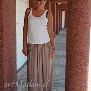 ręcznie robione spódnice spódnica zwiewna letnia maxi beż