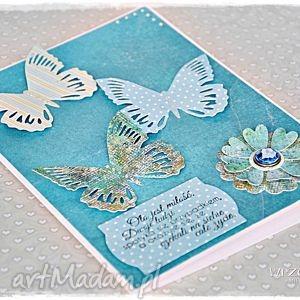 handmade scrapbooking kartki kartka ślubna z motylami