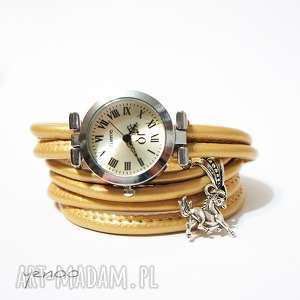 Prezent Zegarek, bransoletka - beżowy, złoty, metaliczny - Koń,