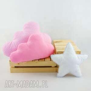 zestaw 3 poduch różowy 2, róż, różowa poduszka, chmurka, poduszka chmurka