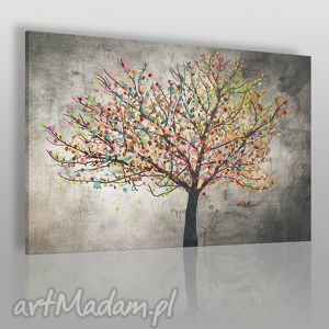 obrazy obraz na płótnie - drzewo liście 120x80 cm 30601, drzewo, liście, kolory