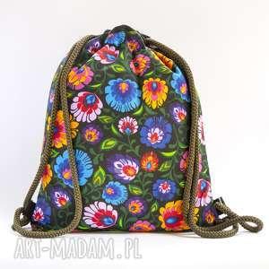 Kwiaty II, worek, plecak