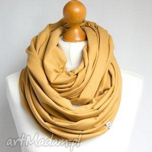 Miodowy komin bawełniany tuba na wiosnę, modny szal szalik