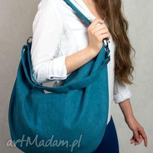torebki hobo xxl true colors - turkus, torba, torebka, zielona, turkusowa