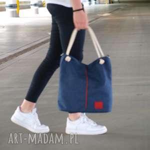 ręcznie wykonane torebki torba marine