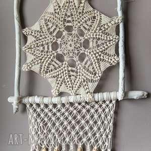 ręcznie zrobione dekoracje łapacz snów - pajęczynka na zamówienie pani marioli