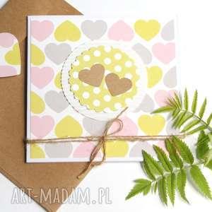 sweet harts kartka handmade, ślub, rocznica
