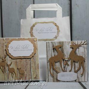 zestaw ślubny z jeleniami, ślub, prezent, jeleń, myśliwy, pudełko
