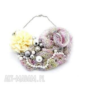 candy naszyjnik handmade - naszyjnik, handmade, kolorowy, pastelowy, różowy