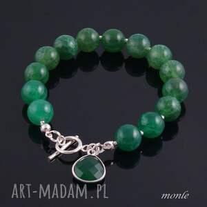 Zielono mi, bransoletka z agatów - Handmade
