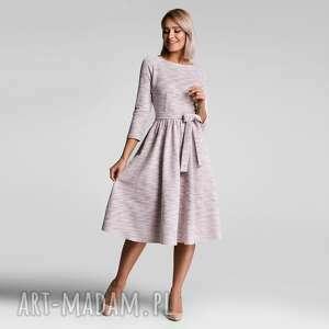 livia clue sukienka marie 3/4 midi nikola jasny róż melanż, ciepła