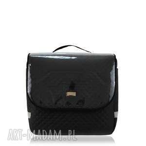 podróżne torba na rower farbike 1125 czarna, rower, sakwa, podróżna, pikowana, modna
