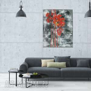 Esterka nowoczesny obraz, abstrakcja, obraz maki, ręcznie