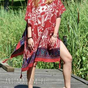 etno sukienka, narzutka, tunika, bawełniana, boho sukienka