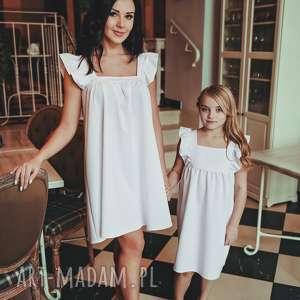 LATORI - Sukienka Damska z kolekcji Mama i Córka dla mamy LM43/1 (Biały)