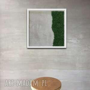 Obraz 50x50cm beton i mech ovo design dekoracja, panel, obraz,