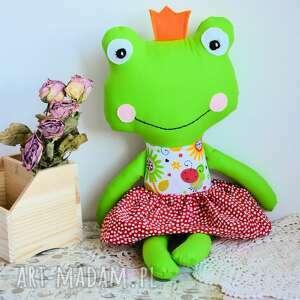 zabawki królewna zaczarowana w żabkę - ula 45 cm, żabka, księżniczka