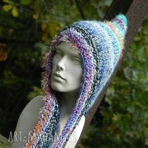 czapa boho elf, multicolor, kolorowa, baśniowa, ciepła, zimowa, świąteczny