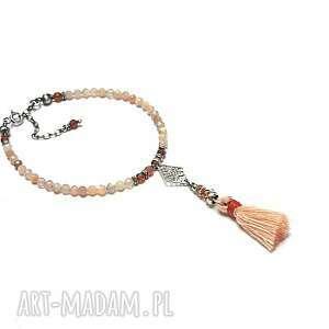 handmade sun stone boho - bransoletka