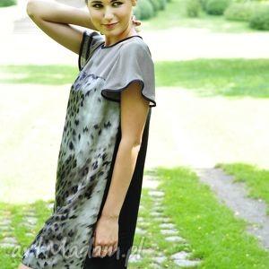 Sukienka Animal Print Dress II, sukienka, luźna, jedwabna, tunika, zwiewna