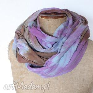 bawełniany ręcznie barwiony szal, bawełna, mama, wiosna, rower, miękii