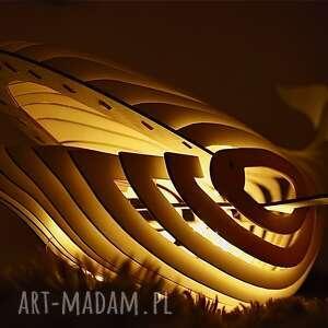 Podświetlany wieloryb led simply joy art wieloryb, lampy