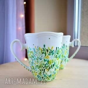 Prezent Kubki ręcznie malowane Zielone , dla-pary, prezent-ślubny, rocznica-ślubu
