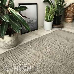 Patchworkowy dywan ze sznurka, dywan, sznurek, bawełniany, patchwork, carpet